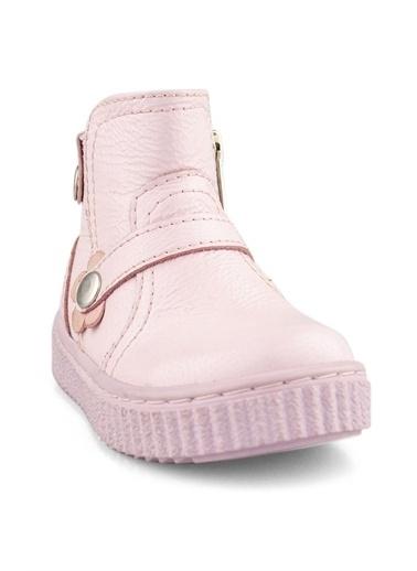 Cici Bebe Ayakkabı Rugan Deri Kız Çocuk Bot Pembe